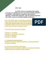 Purpose of the TOEFL Test