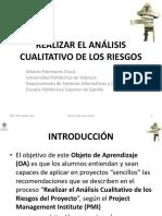 3.2.1 Realizar El Análisis Cualitativo de Los Riesgos