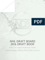 NHL Draft Board 2016 Draft Book