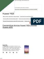 Huawei Y625 _ Caracteristicas y Especificaciones