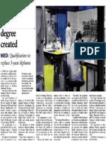 The Citizen - Laboratory Scientist Degree Created - 25 October