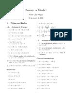 Resumen de Cálculo I