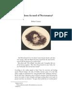 Was Jesus Accused of Necromancy?