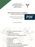Historia Psicológica y Anamnesis