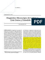 Diagnostico de La Malario Gota Gruesa y Extendido Fino