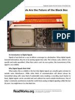 Digitized Signals Are the Future of the Black Box