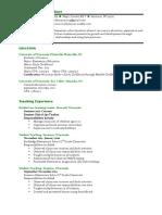 teaching resume may 2016