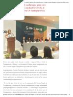 08-06-16 Recobrar confianza del ciudadano, gran reto de los gobiernos, dijo Claudia Pavlovich, al instalar el Sistema Estatal de Transparencia. -Radio Sonora