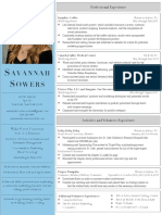 sowers savannah resume color