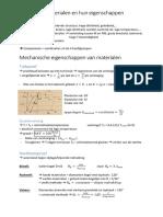 Materiaalleer samenvatting (VOLLEDIG)
