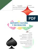 Deporte, Cultura y Recreación
