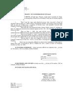 Affiddavit of Confirmation