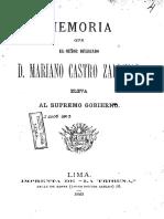 Memoria de Castro Zaldivar 1883