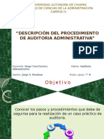Descripcion y Procediciento ala auditoria administrativa