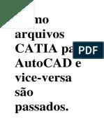 Como Arquivos CATIA Para AutoCAD e Vice