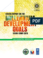 Occidental Mindoro MDG Report Using CBMS Data
