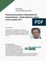 Interview Zu Klinik-Websites