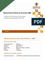 Mantenimiento Plantas de Chancado GMIN - Cambio de Cóncavos Chancador Giratorio Allis Chalmers 54 Inch 74 Inch