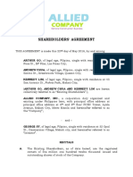 Shareholders Agreement Draft