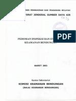 Pedoman Inspeksi Dan Evaluasi Keamanan Bendungan