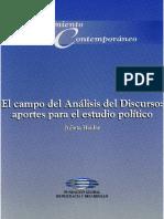 El Campo Del Análisis Del Discurso. Aportes Para El Estudio de Lo Político - Julieta Haidar