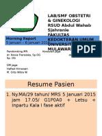 MR Tanggal 19-20 Januari 2015