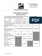 F4 LEEA - 2015 Examination Entrance Form Version 5 July 2015