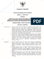 Perubahan Kedua Peraturan Daerah Kota Tomohon Nomor 4 Tahun 2008 Tentang Organisasi Dan Tata Kerja Dinas Daerah Kota Tomohon