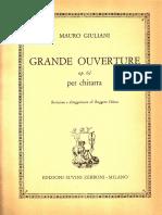 GIULIANI - Op 61 Grande Ouverture (Rev Chiesa)