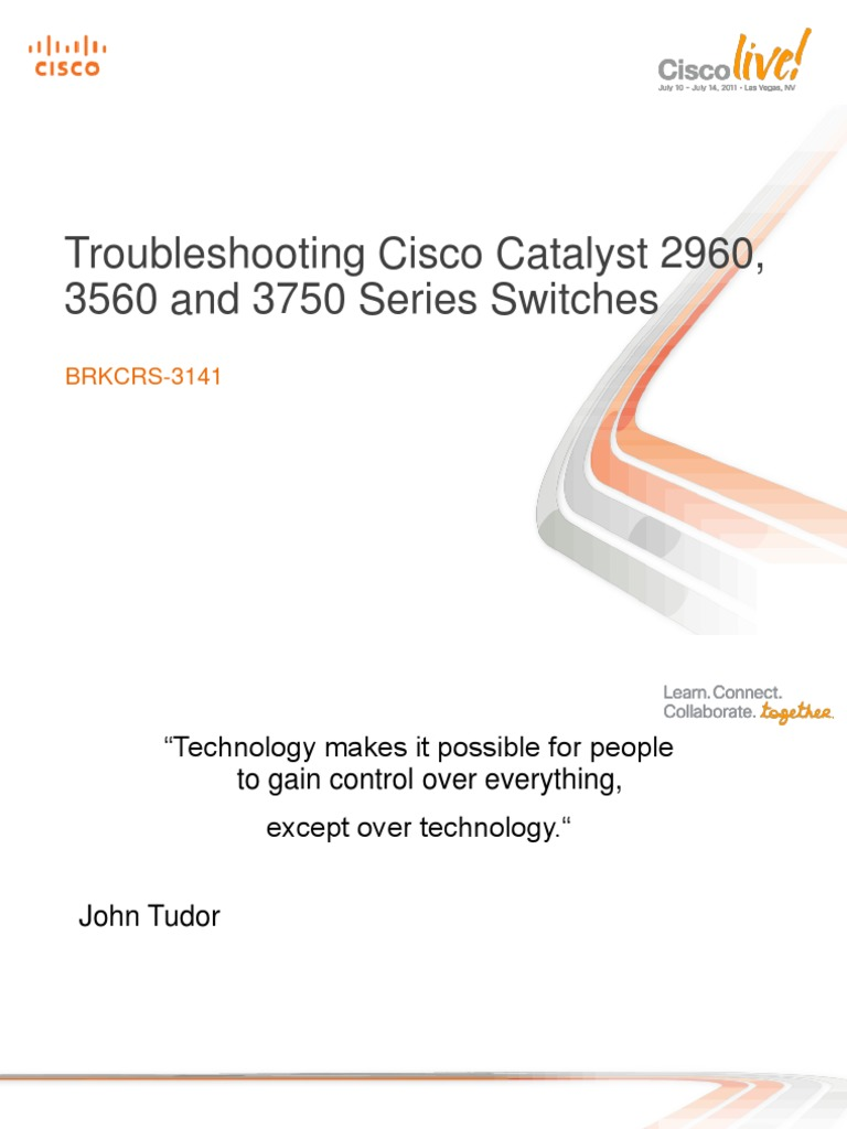 Troubleshooting Cisco Catalyst 2960 3560 and 3750 Series