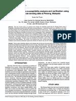 Probabilistic Landslide Susceptibility Analysis and Verification Using