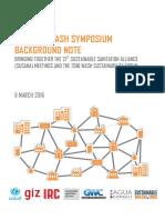 Kampala WASH Symposium Background Note