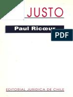 RICOEUR, Paul. 1995. Lo Justo