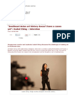 """""""Southeast Asian Art History Doesn't Have a Canon Yet""""_ Isabel Ching – Interview _ Art Radar"""