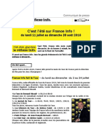 Grille d'été - France Info