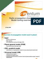 Radio Propagation Channel Model Tuning - Mentum