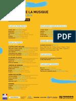 Programme Fête de la Musique Rennes