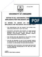 2016 Notice First Year AUGUST Intake