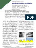 APL2011 Li DefectReducedGreenLED NanopatternedSapphire,Yufeng Li Appl.phys.Lett,98(15),(2011)