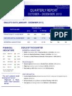Quarterly Report Q4 2013