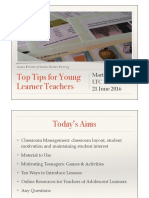 """Top Tips for Young Learner Teachers"""