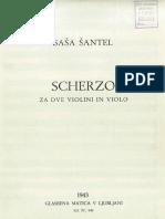 Santel Sasa Scherzo for 2 Violins and Viola
