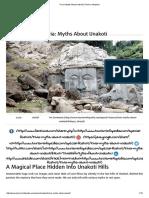 Trivia_ Myths About Unakoti _ Tourism Infopedia