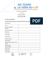 Application Form Pre Summit Youth Event