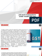 Job-work Transactions Under Model GST Law