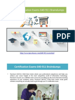 Cisco Certification Exams 640-911 Braindumps