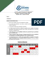 CEDERJ - Ciencia da Computação -Gabarito-AP2-WEB-2016-1