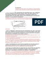 Questões teoricas - Capítulo 7 - Transferência de Calor Incropera