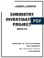 investigatory project on chemistry