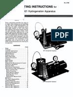 Parr Hydrogenation Apparatus Manual